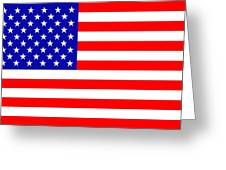 American flag Greeting Card by Toppart Sweden