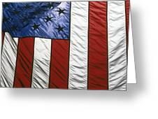 American flag Greeting Card by Tony Cordoza