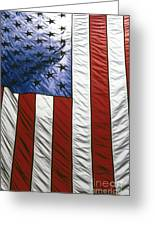 American Flag Greeting Card by Tony Cordoza