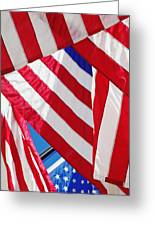 American Flags Greeting Card by Nathan Griffith