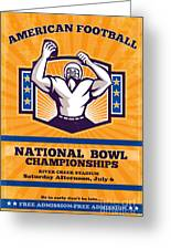 American Football National Bowl Poster Art Greeting Card by Aloysius Patrimonio