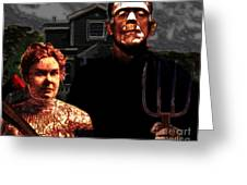 American Gothic Resurrection - Version 2 Greeting Card by Wingsdomain Art and Photography