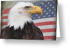 American Pride Greeting Card by Angie Vogel