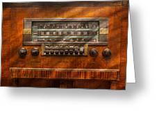 Americana - Radio - Remember What Radio Was Like Greeting Card by Mike Savad