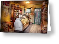 Americana - Store - At the local grocers Greeting Card by Mike Savad
