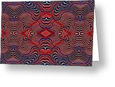 Americana Swirl Banner 2 Greeting Card by Sarah Loft