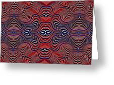 Americana Swirl Banner 4 Greeting Card by Sarah Loft