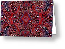 Americana Swirl Design 1 Greeting Card by Sarah Loft