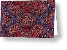 Americana Swirl Design 2 Greeting Card by Sarah Loft