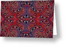 Americana Swirl Design 3 Greeting Card by Sarah Loft
