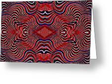 Americana Swirl Design 7 Greeting Card by Sarah Loft