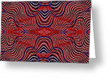 Americana Swirl Design 9 Greeting Card by Sarah Loft