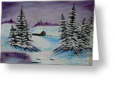Amethyst Evening After Ross Greeting Card by Barbara Griffin