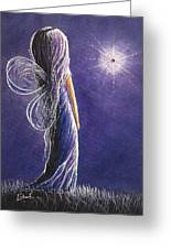 Amethyst Fairy By Shawna Erback Greeting Card by Shawna Erback
