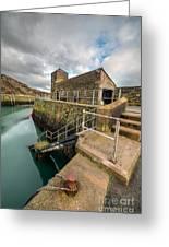 Amlwch Port Lighthouse Greeting Card by Adrian Evans