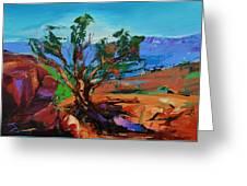 Among The Red Rocks - Arizona Greeting Card by Elise Palmigiani