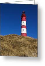 Amrum Lighthouse Greeting Card by Angela Doelling AD DESIGN Photo and PhotoArt