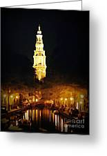 Amsterdam Church And Canal Greeting Card by John Malone