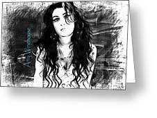 Amy Winehouse Greeting Card by Barbara Chichester