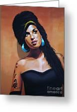 Amy Winehouse Greeting Card by Paul  Meijering