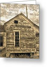 An Abandoned Old Shack Greeting Card by Gregory Dyer