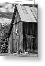 An American Barn Bw Greeting Card by Steve Harrington