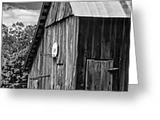 An American Barn bw Greeting Card by Steve Harrington