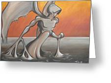 An Angel Out Of Oil Greeting Card by Jeffrey Oleniacz