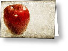 An Apple A Day Greeting Card by Andee Design
