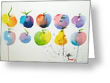An Apple A Day Greeting Card by Joe Prater