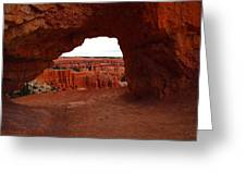 An Arch Foreground The Pillars Greeting Card by Jeff  Swan