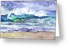 AN ODE TO THE SEA Greeting Card by Carol Wisniewski