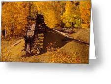 An Old Colorado Mine In Autumn Greeting Card by Jeff  Swan