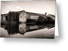 An Old Fortified Farm Greeting Card by Olivier Le Queinec