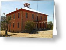 An Old School In White Oaks New Mexico Greeting Card by Jeff Swan