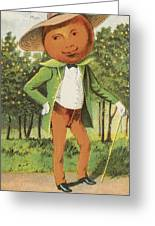 An Orange Man Greeting Card by Aged Pixel