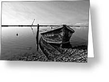 An Oyster Boat Greeting Card by Lynn Jordan
