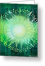 Anahata - Chakra 4 Greeting Card by Christine Louise Bryant