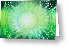 Anahata - Chakra 4 Greeting Card by Christine Louise Bryant