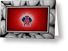 Anaheim Angels Greeting Card by Joe Hamilton