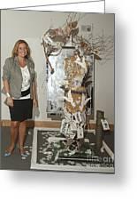 Anahi Decanio Exhibits At Boca Raton Museum Of Art Greeting Card by Anahi DeCanio