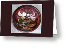 Anamorphic Chinese Pagoda Greeting Card by LaVonne Hand