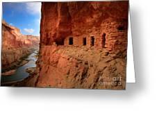 Anasazi Granaries Greeting Card by Inge Johnsson
