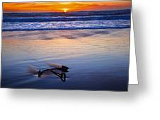 Anchor Ocean Beach Greeting Card by Garry Gay