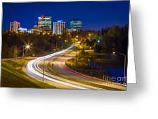 Anchorage Skyline Greeting Card by Inge Johnsson