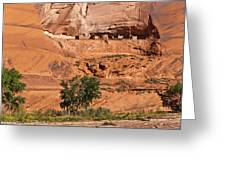 Ancient Anasazi Pueblo Canyon Dechelly Greeting Card by Bob and Nadine Johnston