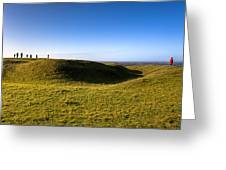 Ancient Hill Of Tara In The Winter Sun Greeting Card by Mark Tisdale