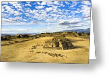 Ancient Ruins Of A Zapotec Temple Greeting Card by Mark Tisdale