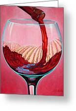 ...and Let There Be Wine Greeting Card by Sandi Whetzel