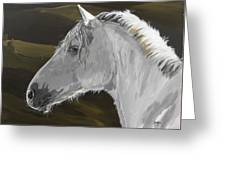 Andalusian Foal Greeting Card by Janina  Suuronen